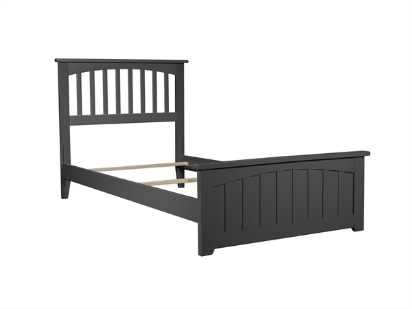 Atlantic Furniture Mission Grey Matching Foot Board Twin Panel Bed AR8726039