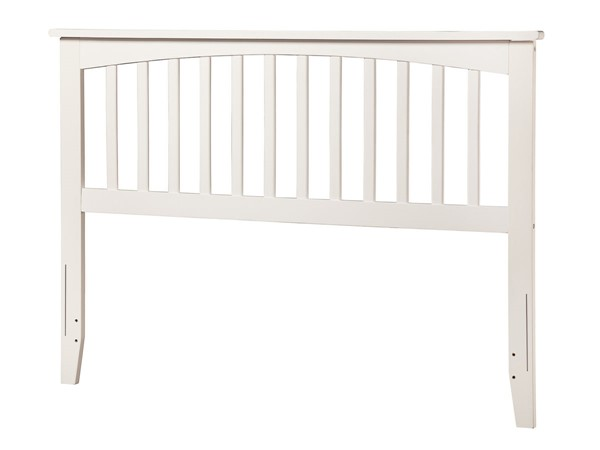 Atlantic Furniture Mission White Full Headboard with Metal Bed Frame AR8730102