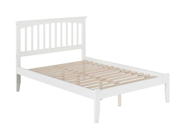 Atlantic Furniture Mission White Full Bed with Open Foot Rail AR8731002