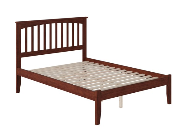 Atlantic Furniture Mission Walnut Full Bed with Open Foot Rail AR8731004