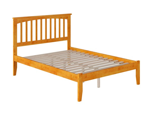 Atlantic Furniture Mission Caramel Latte Full Bed with Open Foot Rail AR8731007