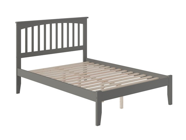 Atlantic Furniture Mission Grey Open Foot Board Full Platform Bed AR8731009