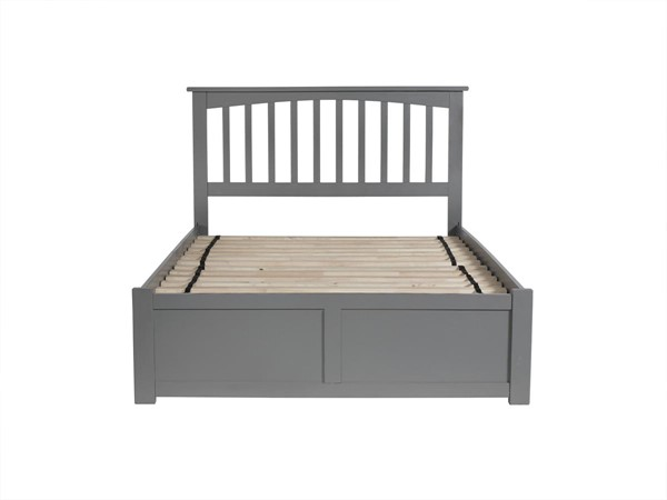 Atlantic Furniture Mission Grey Full Platform Bed with Urban Trundle AR8732019