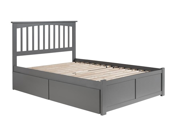 Atlantic Furniture Mission Grey Full Platform Bed with 2 Urban Drawers AR8732119