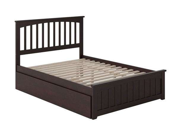 Atlantic Furniture Mission Espresso Full Bed with Matching Foot Board and Twin Urban Trundle AR8736011