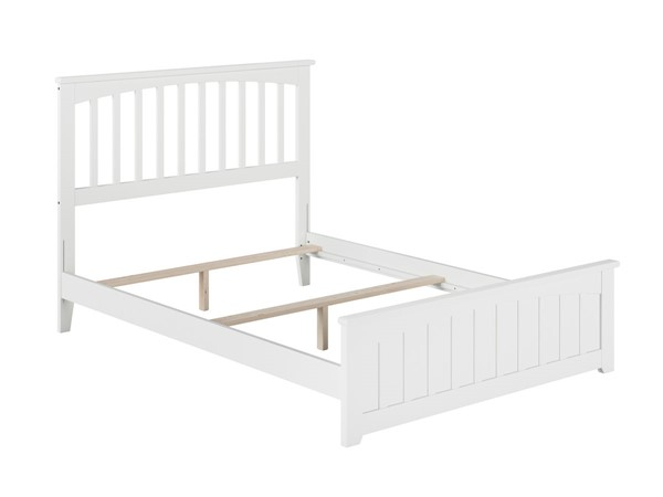 Atlantic Furniture Mission White Matching Foot Board Full Panel Bed AR8736032