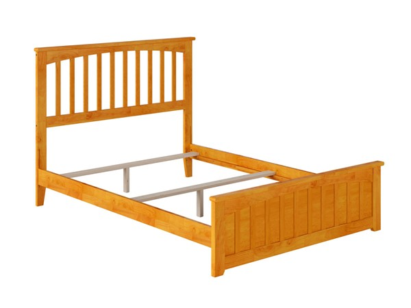 Atlantic Furniture Mission Caramel Matching Foot Board Full Panel Bed AR8736037