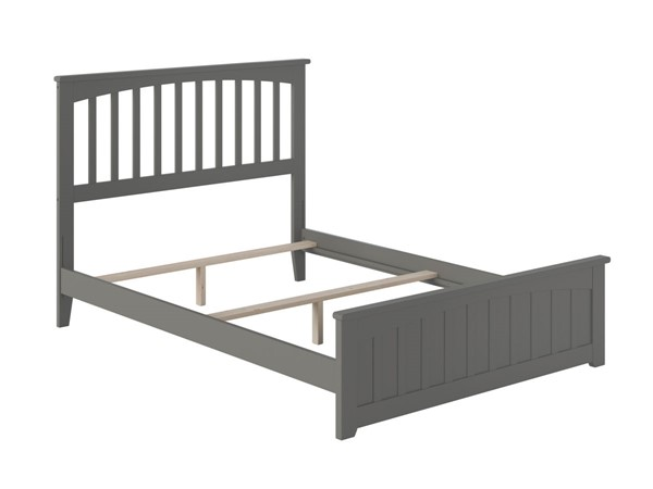 Atlantic Furniture Mission Grey Matching Foot Board Full Panel Bed AR8736039