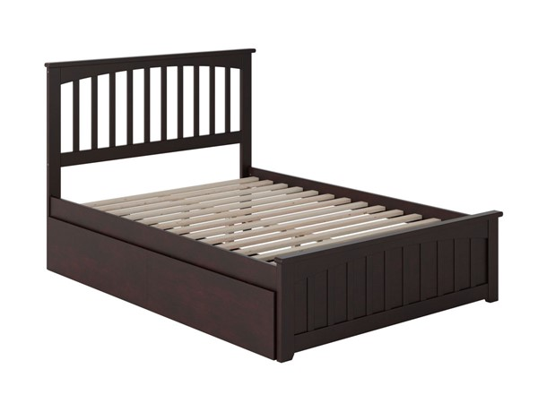 Atlantic Furniture Mission Espresso 2 Urban Drawers Full Bed with Matching Foot Board AR8736111