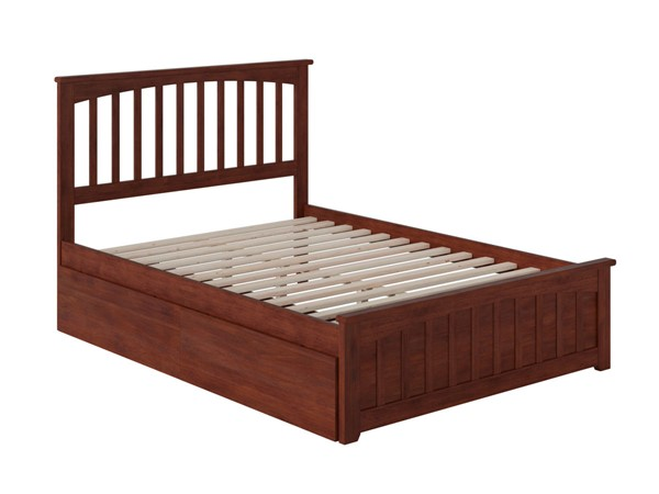 Atlantic Furniture Mission Walnut 2 Urban Drawers Full Bed with Matching Foot Board AR8736114