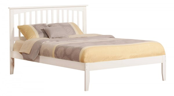 Mission Traditional White Wood Queen Open Foot Rail Platform Bed AR8741032