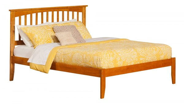 Mission Traditional Caramel Latte Queen Open Foot Rail Platform Bed AR8741037