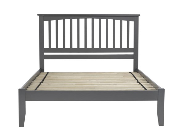Atlantic Furniture Mission Grey Queen Platform Bed with Open Footboard AR8741009