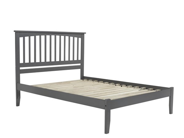 Atlantic Furniture Mission Grey Open Foot Board Queen Platform Bed AR8741009