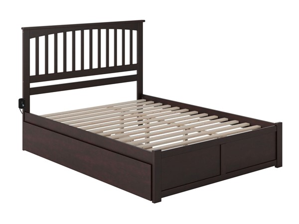 Atlantic Furniture Mission Queen Bed with Twin XL Trundle AR8742041-BED-VAR1