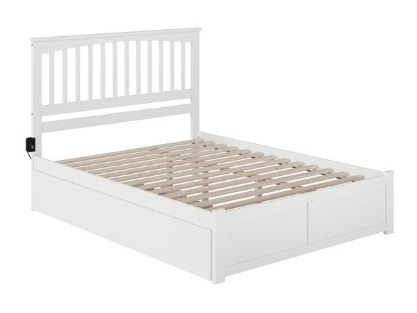 Atlantic Furniture Mission White Queen Bed with Twin XL Trundle AR8742042