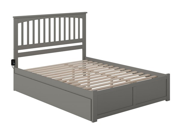 Atlantic Furniture Mission Grey Queen Bed with Twin XL Trundle AR8742049
