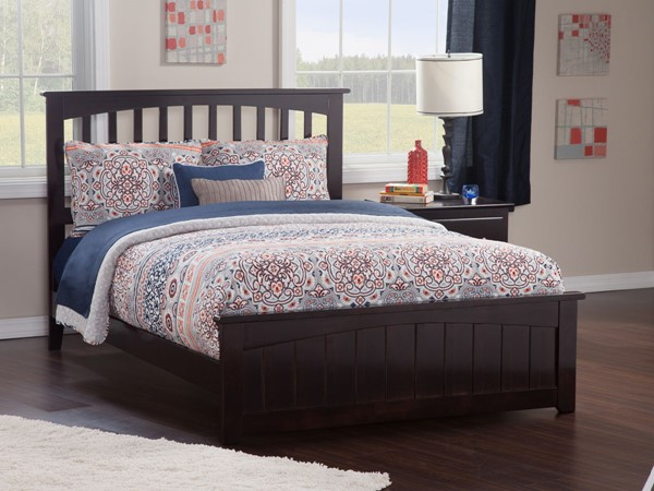 Atlantic Furniture Mission Espresso Matching Foot Board Queen Panel Bed AR8746031