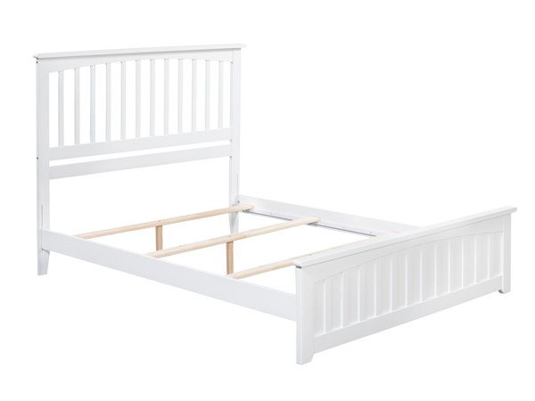 Atlantic Furniture Mission White Matching Foot Board Queen Panel Bed AR8746032