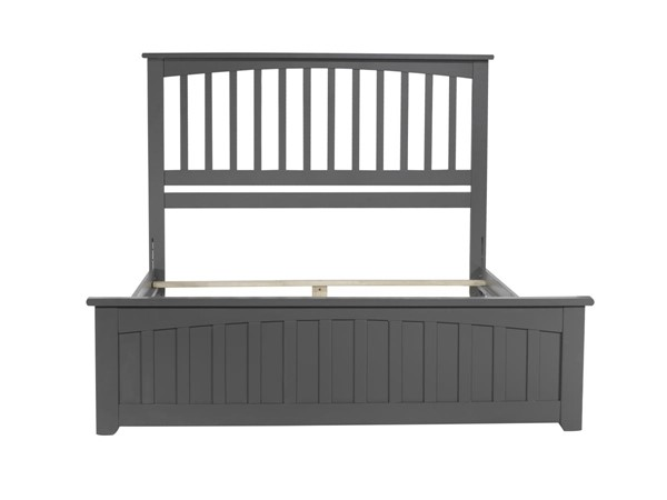 Atlantic Furniture Mission Grey Queen Matching Footboard Traditional Bed AR8746039