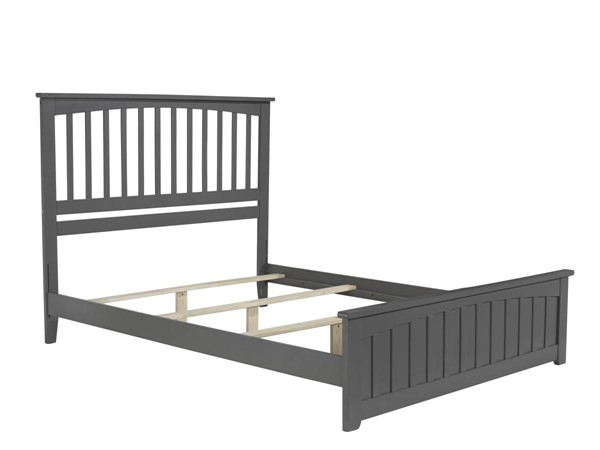Atlantic Furniture Mission Grey Matching Foot Board Queen Panel Bed AR8746039