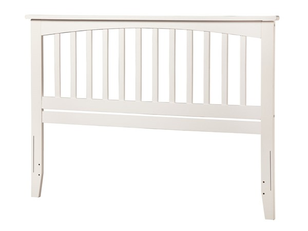Atlantic Furniture Mission White King Headboard with Metal Bed Frame AR8750102