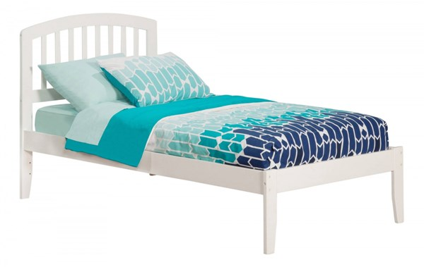 Richmond White Wood Twin XL Platform Open Foot Bed AR8811002