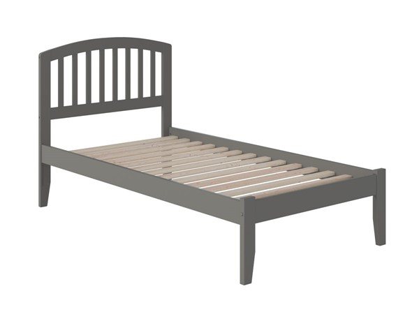 Atlantic Furniture Richmond Grey Twin XL Platform Bed with Open Footboard AR8811009