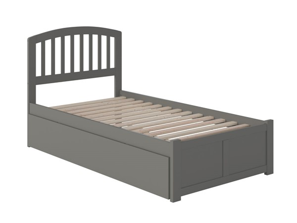 Atlantic Furniture Richmond Grey Twin XL Trundle Bed with Footboard AR8812049