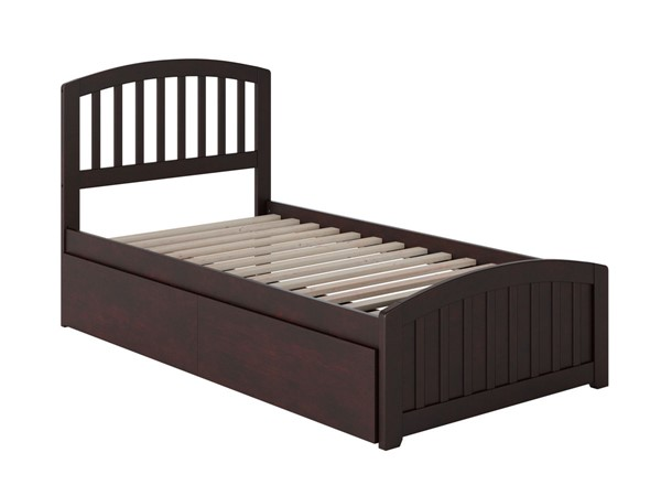 Atlantic Furniture Richmond Espresso 2 Urban Drawers Twin XL Platform Bed with Matching Foot Board AR8816111
