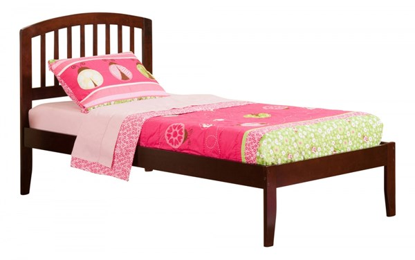 Richmond Walnut Wood Twin Platform Open Foot Bed AR8821004