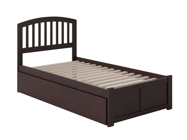 Atlantic Furniture Richmond Espresso Flat Panel Footboard and Urban Trundle Twin Bed AR8822011