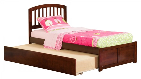 Atlantic Furniture Richmond Walnut Flat Panel Footboard and Urban Trundle Twin Bed AR8822014