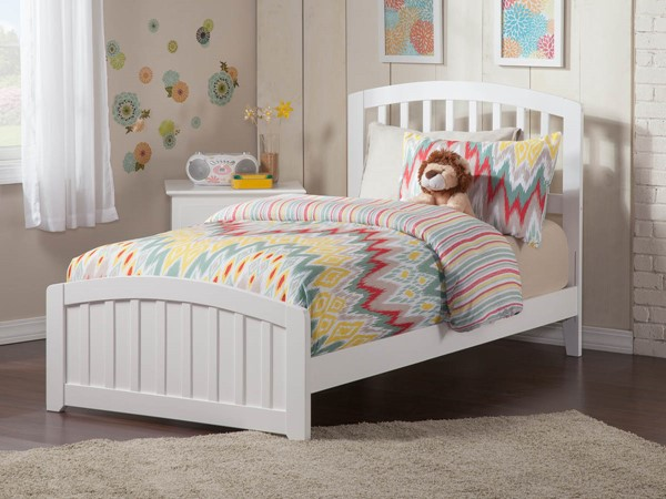 Atlantic Furniture Richmond White Twin Panel Bed AR8826032
