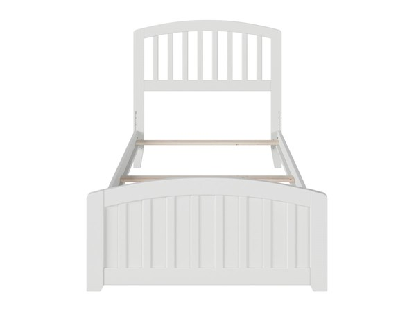 Atlantic Furniture Richmond White Twin Panel Bed with Matching Foot Board AR8826032