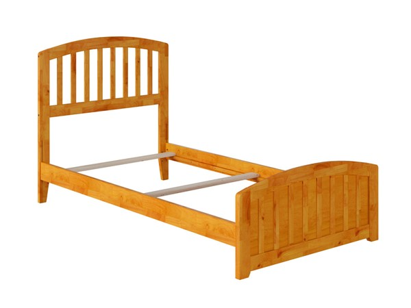 Atlantic Furniture Richmond Caramel Twin Panel Bed with Matching Foot Board AR8826037