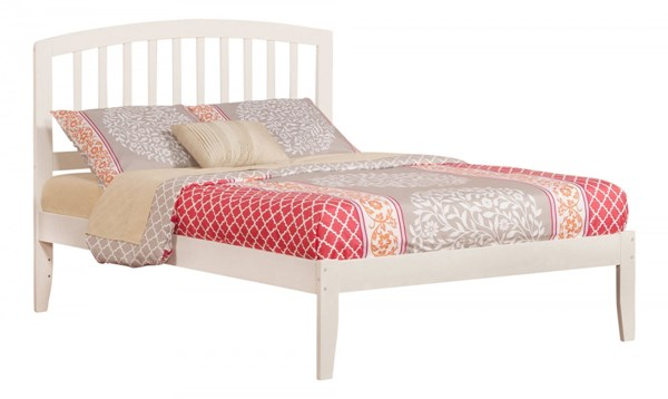 Richmond White Wood Full Platform Open Foot Bed AR8831002