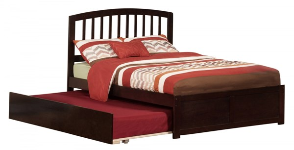 Atlantic Furniture Richmond Espresso Flat Panel Footboard and Urban Trundle Full Bed AR8832011