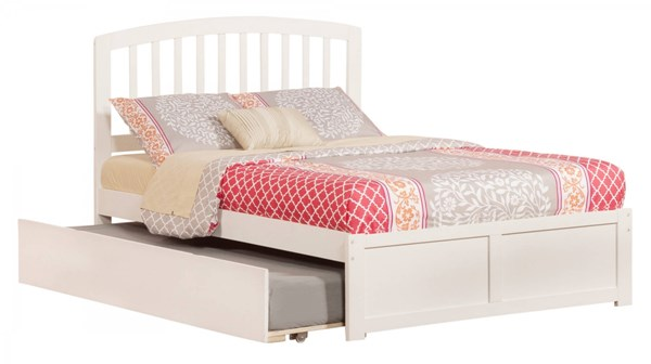 Richmond White Wood Flat Panel Footboard & Urban Trundle Full Bed AR8832012