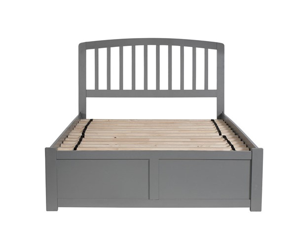 Atlantic Furniture Richmond Grey Flat Panel Footboard and Urban Trundle Full Bed AR8832019