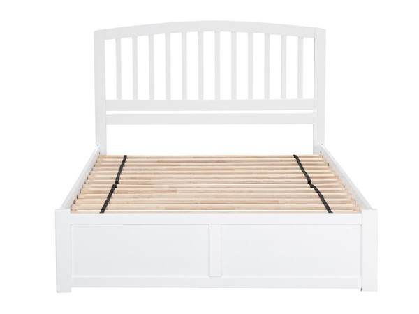 Atlantic Furniture Richmond White Flat Panel Footboard and Two Urban Drawers Full Bed AR8832112