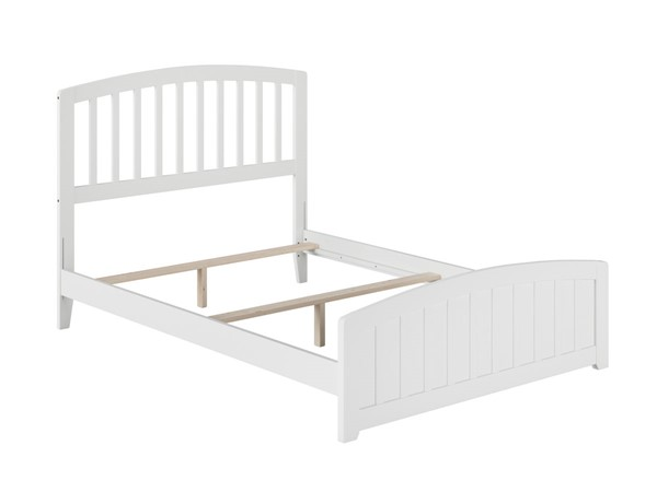 Atlantic Furniture Richmond White Full Panel Bed with Matching Foot Board AR8836032