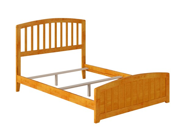 Atlantic Furniture Richmond Caramel Full Panel Bed with Matching Foot Board AR8836037