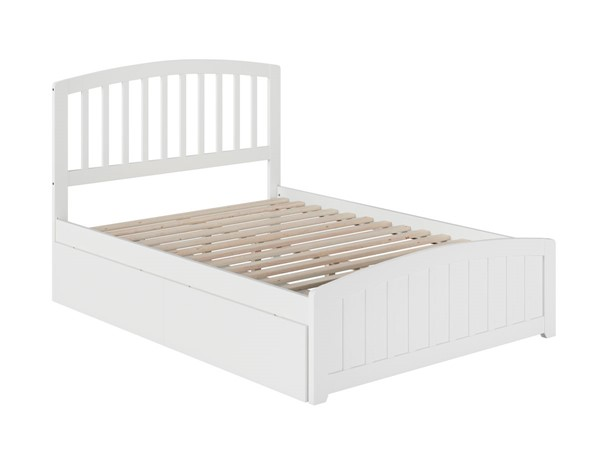 Atlantic Furniture Richmond White 2 Urban Drawers Full Platform Bed with Matching Foot Board AR8836112