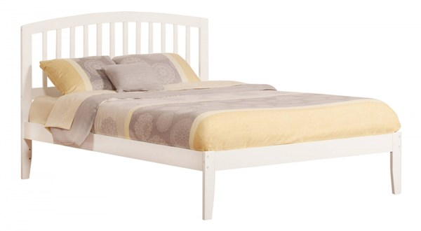 Richmond Traditional White Wood Queen Open Foot Rail Platform Bed AR8841032