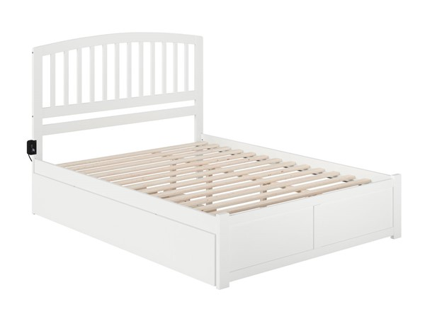 Atlantic Furniture Richmond White Queen Bed with Twin XL Trundle AR8842042