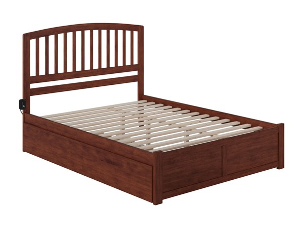 Atlantic Furniture Richmond Walnut Queen Bed with Twin XL Trundle AR8842044