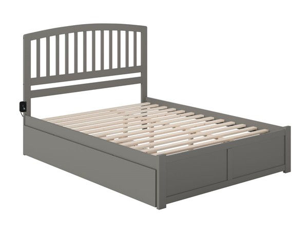 Atlantic Furniture Richmond Grey Queen Bed with Twin XL Trundle AR8842049