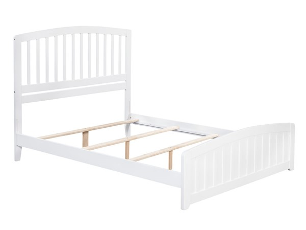 Atlantic Furniture Richmond White Queen Panel Bed with Matching Foot Board AR8846032