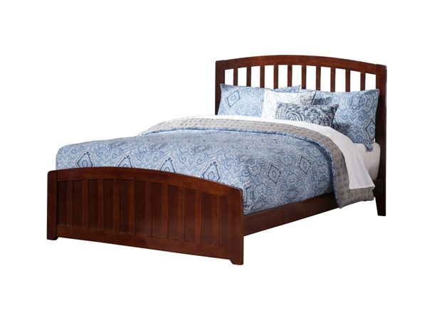 Atlantic Furniture Richmond Walnut Queen Panel Bed with Matching Foot Board AR8846034